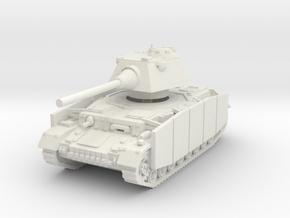 Panzer IV S (Schurzen) 1/72 in White Natural Versatile Plastic