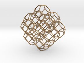 Truncated octahedral lattice in Natural Brass