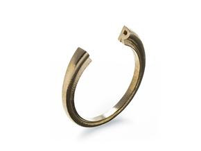 R Ring (slim) in Natural Brass: 7 / 54