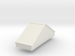Platform Canopy Section 3 RH - 4mm Scale in White Strong & Flexible