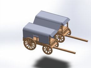N TLELGRAPH WAGON AND TELEGRAPH WAGON DEPLOYED in Smooth Fine Detail Plastic
