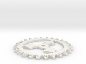 Enigma wheel 1 in White Natural Versatile Plastic