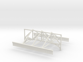 Platform Canopy Section 2 - No Roof - 4mm Scale in White Natural Versatile Plastic
