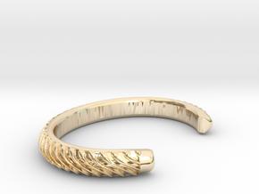 BRAID PATTERN 2 NARROW CUFF in 14k Gold Plated Brass