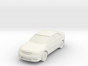 "Car at 1""=10' Scale in White Natural Versatile Plastic"