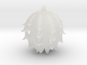Pierced Thistle Ball in Smooth Fine Detail Plastic