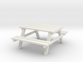 Park Picnic Bench 1/24 in White Natural Versatile Plastic