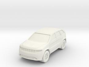 "SUV at 1""=10' Scale in White Natural Versatile Plastic"