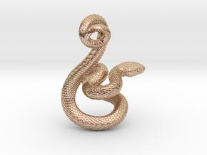 Snake Pendant_P04 in 14k Rose Gold Plated Brass