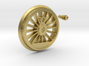 Marklin BR55 Drive Wheel - Uninsulated - PN 5713 in Natural Brass: 1:32