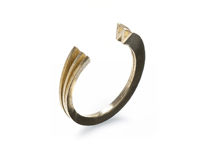 W Ring (slim) in Natural Brass: 7 / 54
