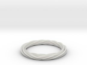 Twist and Flip Bangle in Smooth Fine Detail Plastic
