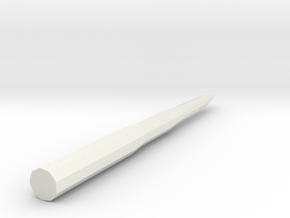 1/400 Scale Russian SS-18 Missile in White Natural Versatile Plastic
