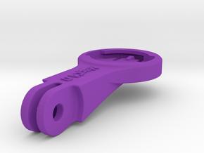 Wahoo Elemnt BMC Mount - Long in Purple Processed Versatile Plastic