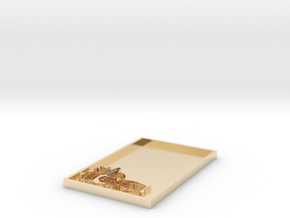 Name Tag Blank in 14K Yellow Gold