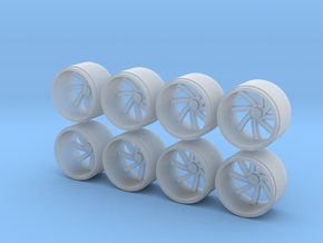 1/64 scale wheels in Smoothest Fine Detail Plastic