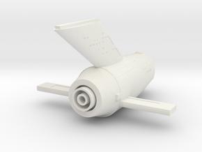 1000 TOS secondary hull v4 in White Natural Versatile Plastic