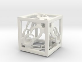 Cube Fractal RD8 in White Natural Versatile Plastic