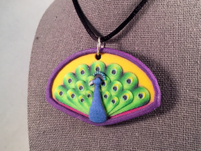 Peacock Pendant in Natural Full Color Sandstone