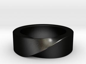 Mobius 1 Ring in Matte Black Steel: 10 / 61.5