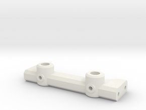 V1W: Rear Body Mount 70mm in White Natural Versatile Plastic
