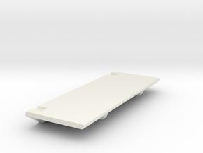 V1W: E-Plate or Battery Holder Left in White Natural Versatile Plastic