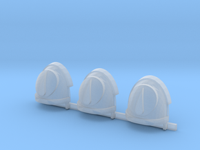 Red Ángeles circle Gravus shoulder pads x3 R #1 in Smooth Fine Detail Plastic
