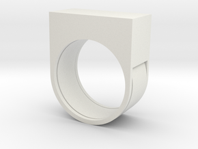 EZCUTTER Ring in White Natural Versatile Plastic