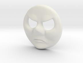 HO Bill & Ben Face #3 - Cross in White Natural Versatile Plastic