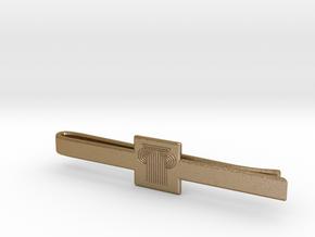 PARK WEST - Men TieClip Model 003 in Polished Gold Steel