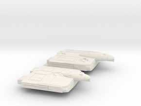 3788 Scale Flivver War Cruiser and War Destroyer in White Natural Versatile Plastic