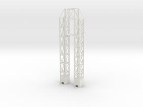 1/144 Scale Launch Complex 34 Service Tower in White Natural Versatile Plastic