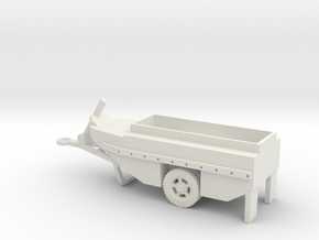 1/87 Scale WCTC-6 Amphibious Trailer in White Natural Versatile Plastic