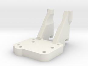 SCX10 Trans Adapter for Vaterra Twin Hammers. in White Natural Versatile Plastic