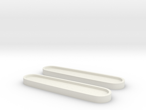 Victorinox 84 Scales Rohlinge Template in White Natural Versatile Plastic