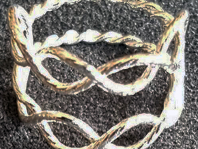 Rope knot ring  in Natural Silver: 7 / 54