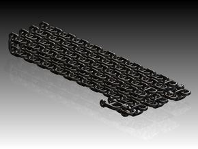Cross link Anchor chain with Anchor shackles in Smooth Fine Detail Plastic