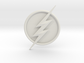 CW Flash Seasons 5 and 6 Emblem in White Natural Versatile Plastic
