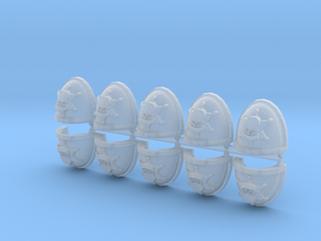 Commission 136 Mk7/8 shoulder pads x10 in Smooth Fine Detail Plastic