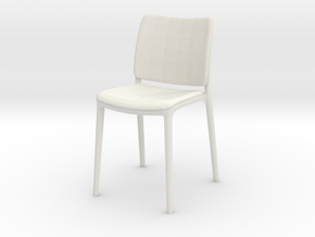 Modern Miniature 1:12 Chair in White Natural Versatile Plastic: 1:12
