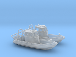 RIB Zodiac hurricane. 30mm length in Smooth Fine Detail Plastic