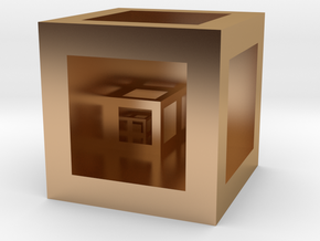 """Cube """"Scale"""" in Polished Bronze"""
