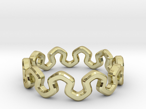 Crown Ring _ C in 18k Gold Plated Brass: 8 / 56.75