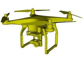 1/64 scale hand-held UAV drone miniature x 1 in Smoothest Fine Detail Plastic