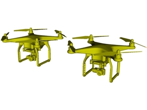 1/64 scale hand-held UAV drone miniatures x 2 in Smoothest Fine Detail Plastic
