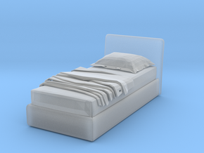 Modern Miniature 1:48 Bed in Smooth Fine Detail Plastic: 1:48 - O