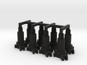 commodore 64 plunger 8x set in Black Natural Versatile Plastic