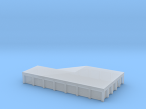 Train Loading Platform 1/100 in Smooth Fine Detail Plastic