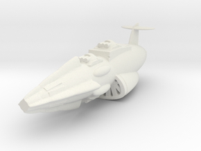 2500 Star Blazers Star Force Excalibur class in White Natural Versatile Plastic