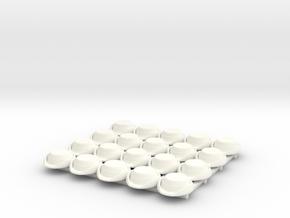 20 x Wrens Hat in White Processed Versatile Plastic